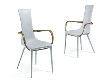 Upholstered leather chair with armrests JESSICA   Chair with armrests