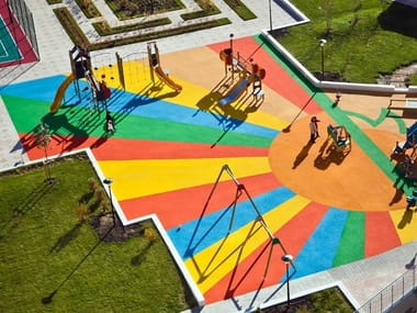 Resin sports flooring RÉSINEO PLAYGROUND