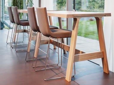 High fabric stool with back JIM | Fabric stool