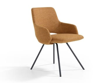 Chaise en tissu avec accoudoirs JIMA | Chaise en tissu