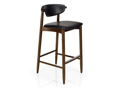 Cadeira de pele com apoio de pés JOANNA | Cadeira