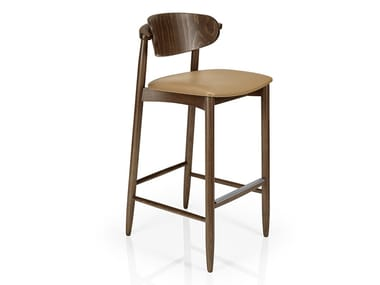 Wooden chair with footrest JOANNA | Chair