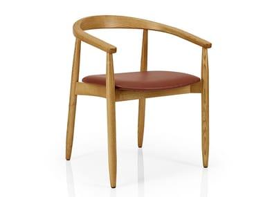 Sedia da ristorante in legno con schienale aperto JOANNA | Sedia da ristorante