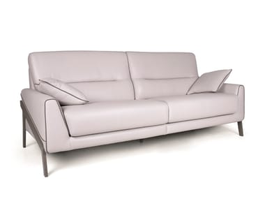 2 seater leather sofa JOE DOUBLE