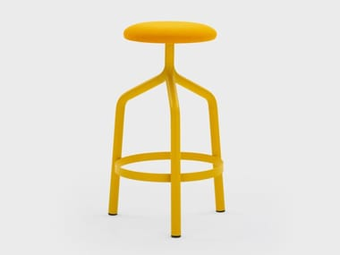 High fabric stool with footrest JOE
