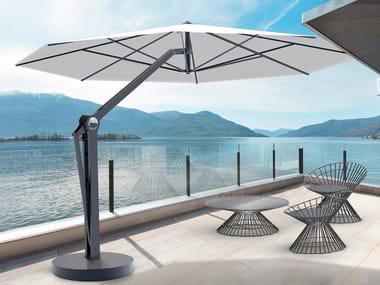 Guarda-sol redondo em aço com apoio lateral JOINT | Guarda-sol redondo