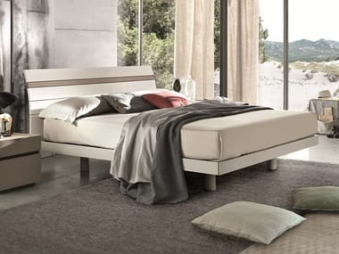 Lacquered wooden double bed JOKER | Lacquered bed