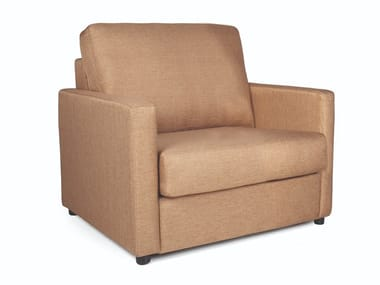Fabric armchair with armrests JOU SINGLE