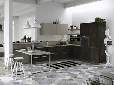 Cucina componibile con maniglie integrate JOY By Snaidero
