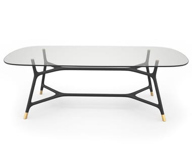 Rectangular glass table JOYCE | Rectangular table