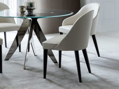 Leather restaurant chair JUDY | Leather chair