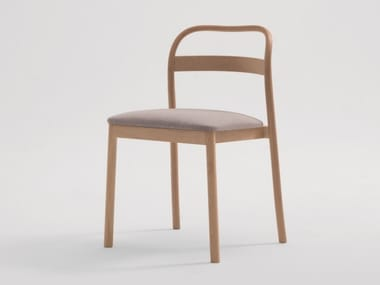 Upholstered stackable fabric chair JULES | Chair