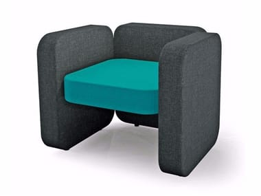 Fabric armchair with armrests JULES