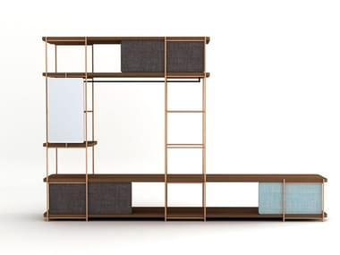Steel and wood walk-in wardrobe JULIA JV03