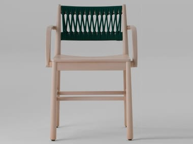 Open back beech chair with armrests JULIE | Chair with armrests