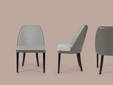 Upholstered fabric chair JULIE | Fabric chair