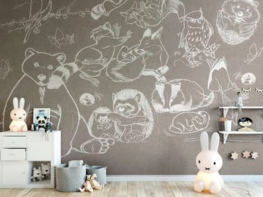 Rubber washable kids wallpaper JUMP