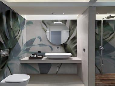 Washable panoramic glass-fibre wallpaper JUNGLE MONSTERA