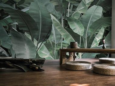 Vinyl or fyber glass wallpaper JUNGLE THAI BANANO