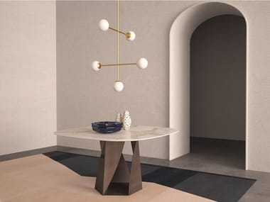 Oval marble table JUPITER | Oval table