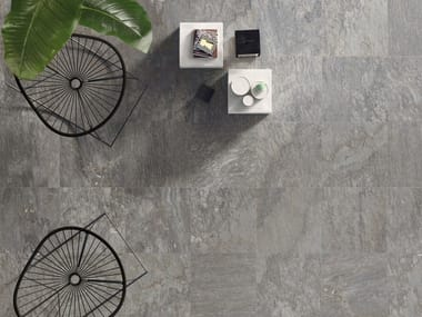 Pavimento antiscivolo ingelivo in gres porcellanato effetto pietra SOURCE GREY