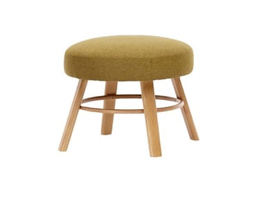 Low upholstered wooden stool K2 C-2220
