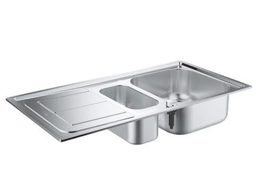 Lavello a una vasca e mezzo da incasso in acciaio inox con gocciolatoio K300 - 31564SD0 | Lavello a una vasca e mezzo