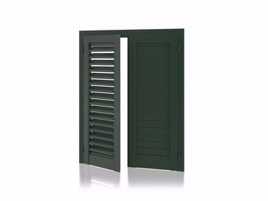 Aluminium shutter with adjustable louvers with planar louvers K90 Planar Adjustable