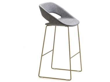 High sled base fabric stool KABIRA FABRIC ST