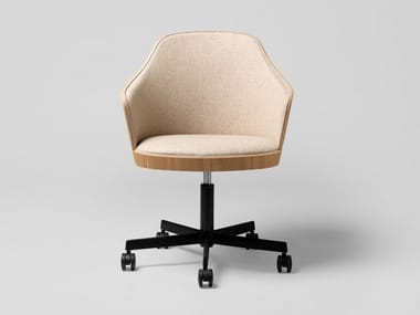 Fabric office chair with armrests with 5-spoke base KAIAK OFFICE | Office chair with armrests