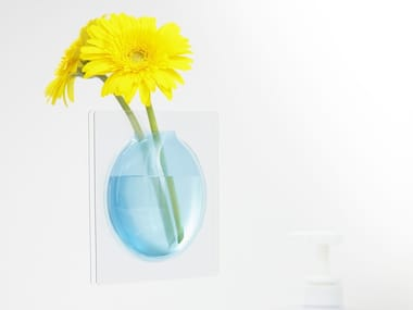 Wall-mounted PVC vase KAKI