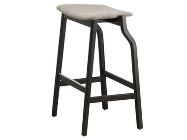 High wooden stool with integrated cushion KALEA | High stool