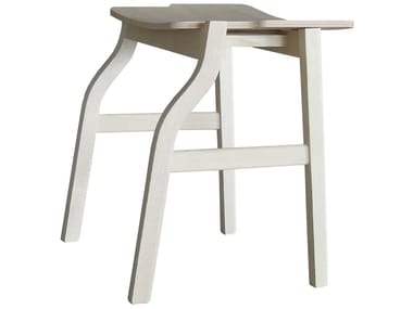 Low wooden stool KALEA | Low stool