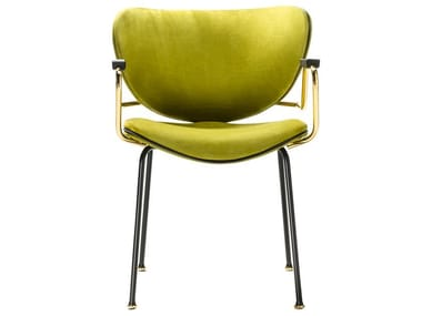 Fabric chair with armrests KALIDA | Fabric chair