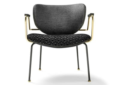 Fabric chair with armrests KALIDA LOUNGE | Chair with armrests