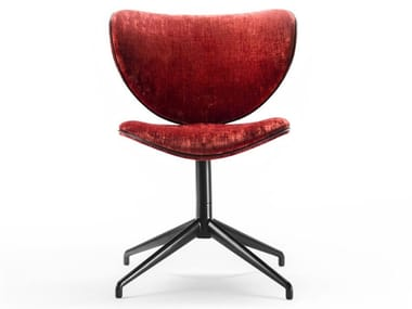 Swivel trestle-based fabric chair KALIDA SWIVEL