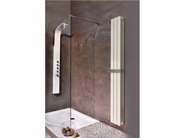 Hot-water vertical wall-mounted aluminium towel warmer KALIS BATH