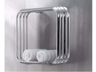 Chrome wall-mounted towel warmer KALOS 50-50