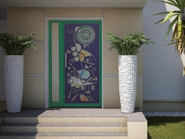 Exterior steel entry door KANDINSKIJ