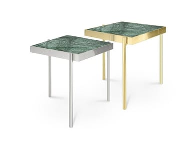 Square Indian Green marble coffee table KANDINSKY INDIAN GREEN   Marble coffee table