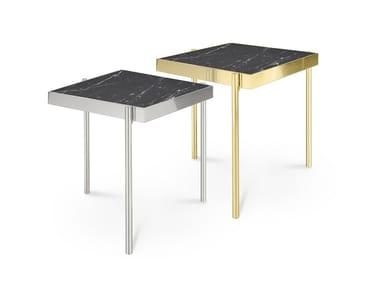 Square Nero Marquina marble coffee table KANDINSKY NERO MARQUINA | Marble coffee table