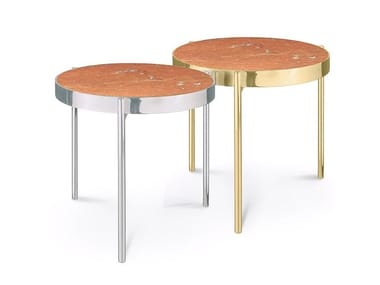 Round Rojo Alicante marble coffee table KANDINSKY ROJO ALICANTE | Coffee table