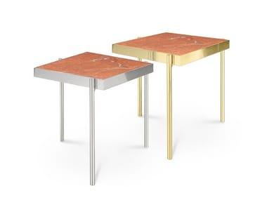 Square Rojo Alicante marble coffee table KANDINSKY ROJO ALICANTE | Marble coffee table
