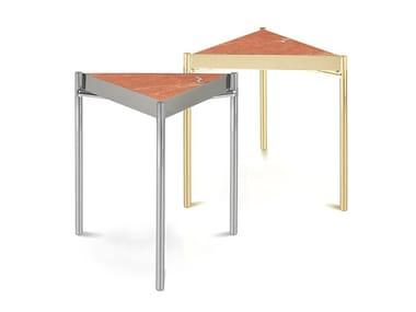 Triangular Rojo Alicante marble coffee table KANDINSKY ROJO ALICANTE | Triangular coffee table