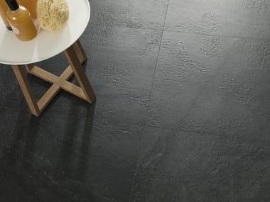 Porcelain stoneware wall/floor tiles with stone effect KAOS BLACK