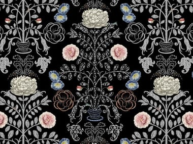 Tessuto con motivi floreali KASANDRA | Tessuto in fibra sintetica