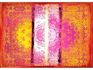 Rectangular polyamide rug KASHAN REMIX
