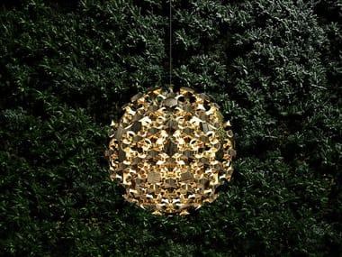 LED brass pendant lamp KASVAA