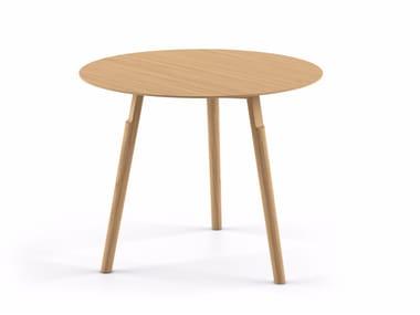 Tavolino rotondo in legno massello KAYAK SMALL TABLE - 04B