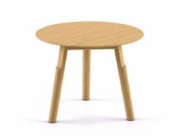 Mesita redonda de madera maciza KAYAK SMALL TABLE - 04C